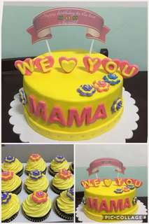 Personalized Cakes and Cup Cakes