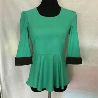 Glitter Glam peplum blouse
