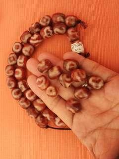 DZI Dragon Vein Agate Beads (14x13mm)