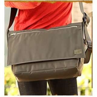 porter防水尼龍牛皮郵差袋MacBook leather messenger bag單車袋school書包斜背包shoulder卡其色 Khaki