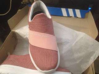 Adidas Neo Cloudfoam Refine Slip On Peach