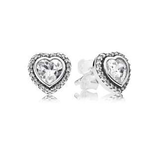 Pandora Sparking Love Stud Earrings