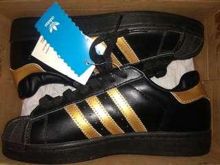 Adidas black and gold superstar (original)