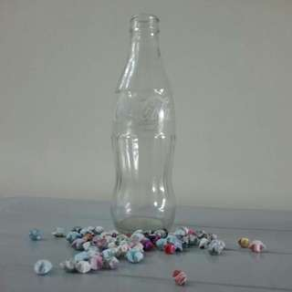250 ml CocoCola bottle with handmade Lucky Stars