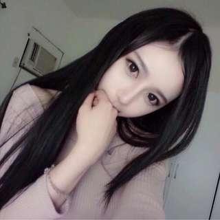 Long straight hair wig / korean style long straight hair wig