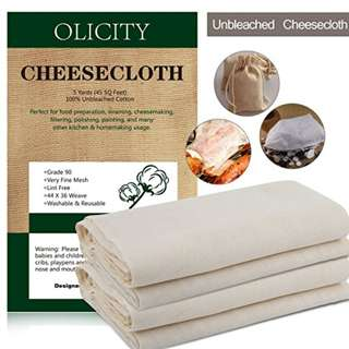 Olicity Cheesecloth, Grade 90, 45 Square Feet