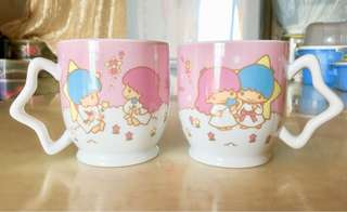 [全新] Little Twin Stars Mug SANRIO 陶瓷杯一對 (完整包裝)
