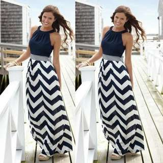 Preorder** Striped Boho Maxi Dress