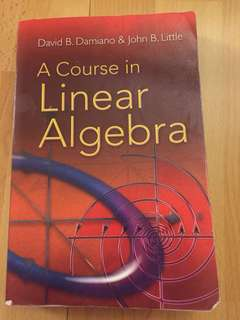 A course in linear algebra