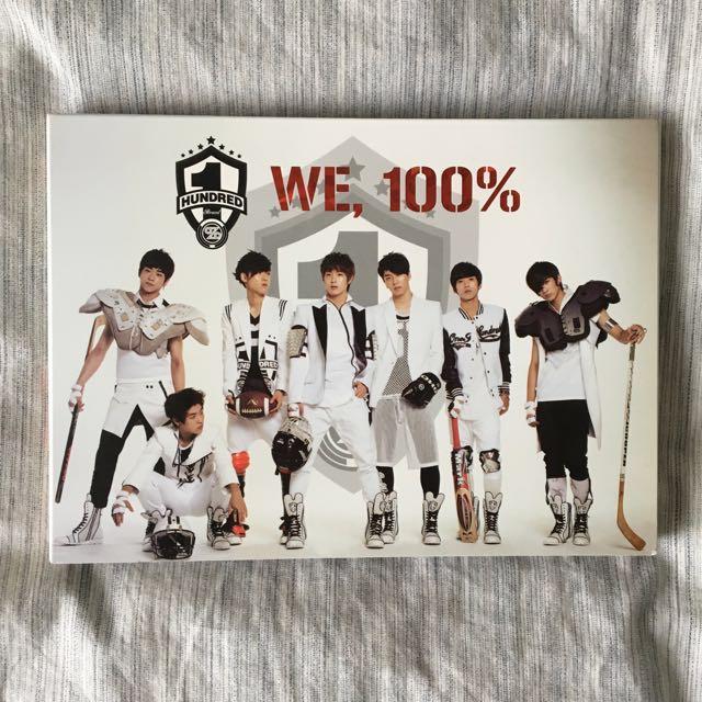 100% — We, 100% 1st single album
