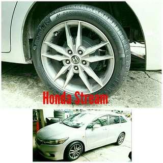 Tyre 215/50 R17 Membat on Honda Stream 🐕 Super Offer 🙋♂️