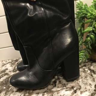 Leather sam Edelman size 6 boots