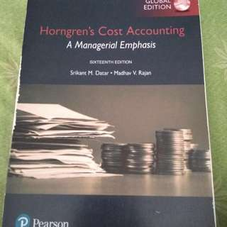 Horngern's Cost Accounting