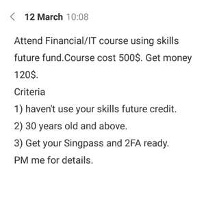Get paid to attend course
