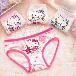 [Ready Stock] 4pcs/lot Girls Panties Innerwear Hello Kitty