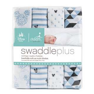 Aden by Aden + Anais 4 Pack Graphic Mickey Disney Baby Swaddle