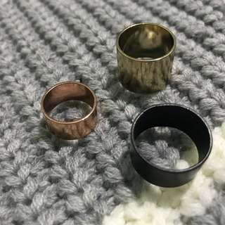 3 Colors Ring Set