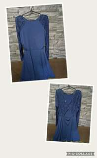 H&m. Blue. Dress