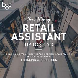 Retail Assistant (Up To $1700)