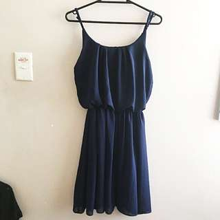 Navy Dress Jumpsuit
