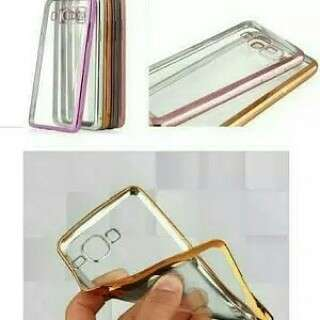 Samsung J1 Ace Casing Shinning Chrome Anti Crack Transparan