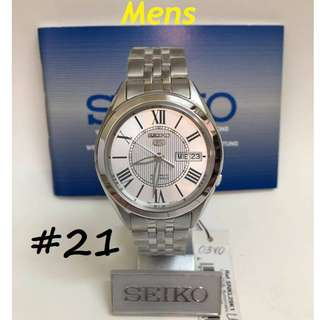 SEIKO 5 AUTOMATIC 21 JEWELS WATCHES ......