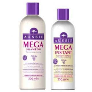 Aussie Mega shampoo + conditioner