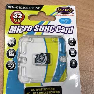 CD-R KING 32GB MICRO SDHC CARD CLASS 10