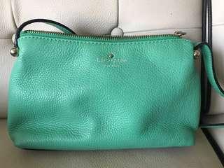 Kate Spade green cross-body bag