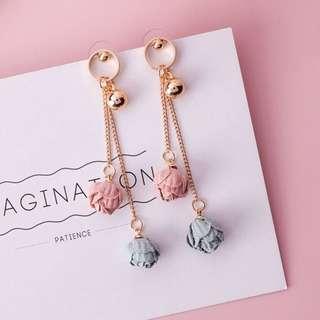 Double rose earring