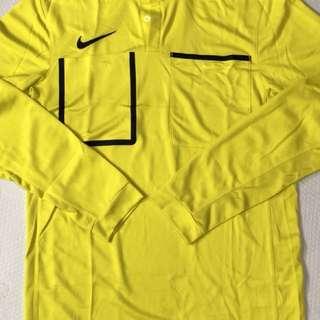 Nike 黃色足球裁判服