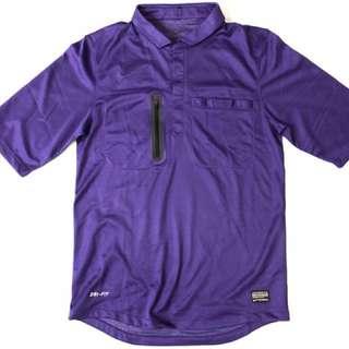 Nike 紫色足球裁判服