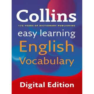 Collins Easy Learning English Vocabulary eBook