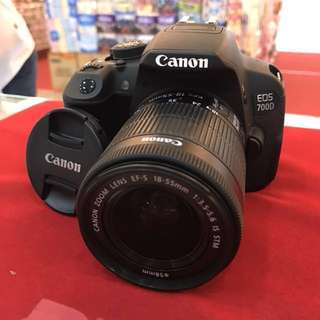 Canon EOS 700D with 18-55 STM