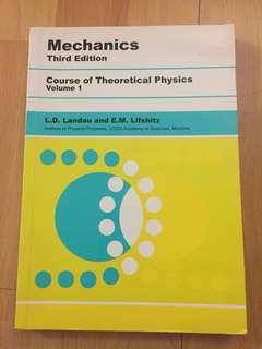 Mechanics course of theoretical physics volume 1- Landau