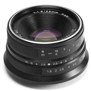 7artisan 25mm f1.8 portrait lens for Olympus and Panasonic