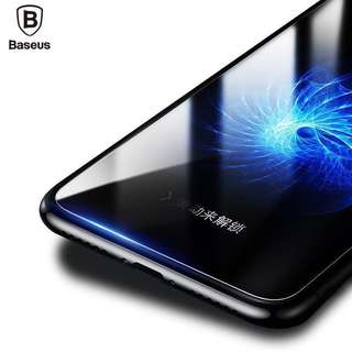 (FREE CABLE) Baseus IPhone X 0.15mm Tempered Glass