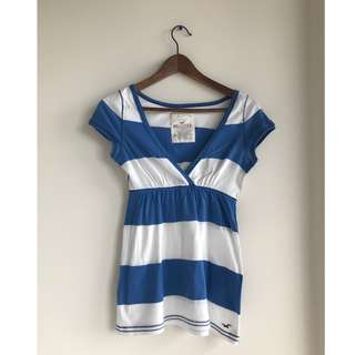 Hollister Blue & White Striped Shirt - size small/medium