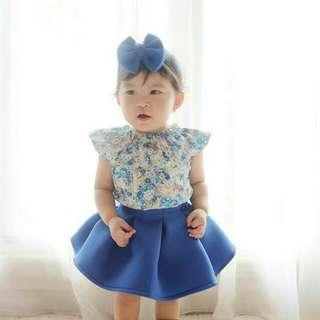 Bubble skirt + sabrina top and headband