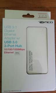 USB 3.0 3-Port Hub