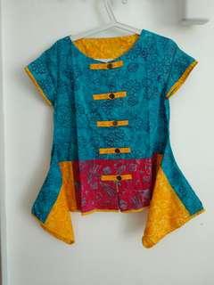 Blouse Batik Warna Cerah