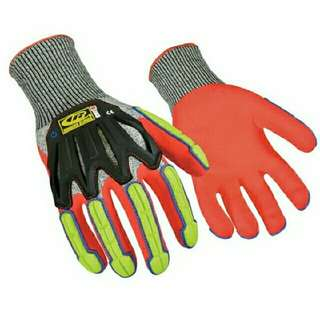 Brand New Ringers Gloves / Safety Gloves / Impact Gloves (R-Flex Impact Nitrile) Size: Large