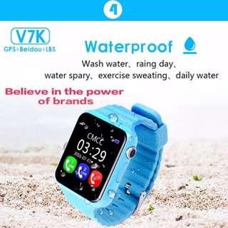 Smart Baby phone Watch V7K Waterproof Kids GPS
