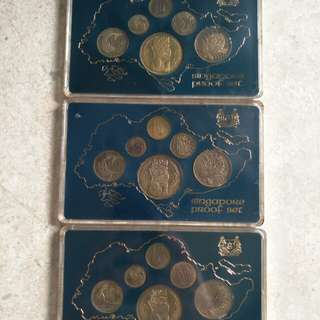 3 SET SINGAPORE 1977 SINGAPORE PROFT COINS SET