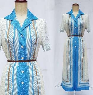 vintage ins colared dress