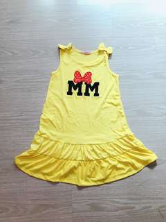 Brand new Minnie mouse yellow dress