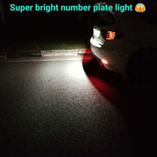 Super bright number plate light