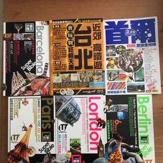 Travel books x6