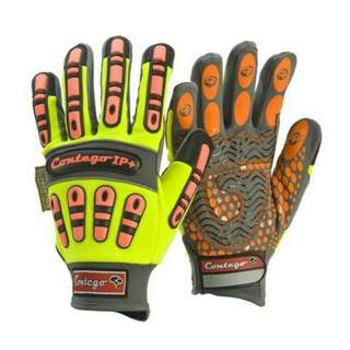 Brand New Frontier Contego Impact Protection Hi Vis Mechanics Work Gloves, (Size M & L available)