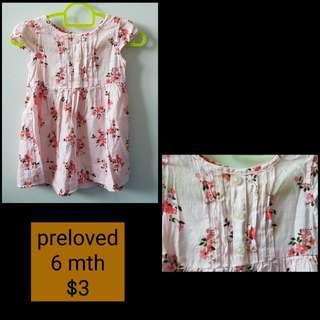 Preloved Dress ( 6 mth )